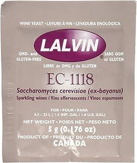 Lalvin Dried Wine Yeast EC #1118 (Pack of 10)