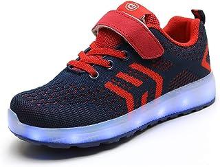 LED Scarpe Sportive Ginnastica per Bambini Ragazzi e Ragazze 7 Colori USB Carica Lampeggiante Luminosi Running Sneakers Sc...