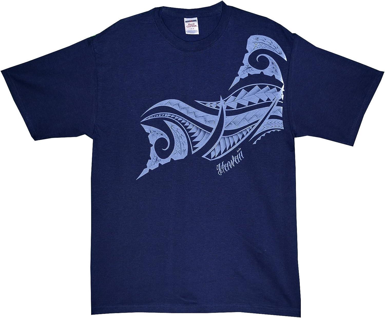 RJC Maui Imprint Polynesian Tribal Pre-Shrunk Cotton T-Shirt