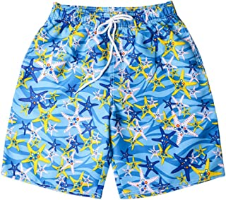 Vickyleb Swim Trunks with Mesh Lining Short Couple Quick Dry Bathing Suits Swimming Watershort with Pocket Drawstring