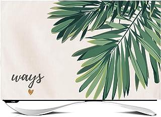NANKAN Inomhus TV-skydd 50 cm – 150 cm dammsäker bomull linne tyg TV skärmskydd söta blommor blad djurtryck TV-display sky...