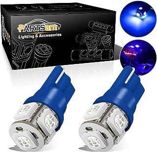 Partsam T10 194 168 LED Light Bulbs for Interior Lights Map Dome Door Courtesy License Plate Instrument Panel Gauge Cluster Dashboard Light Bulbs-2pcs Blue