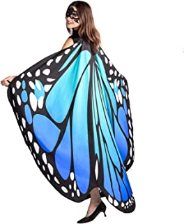 Butterfly Wings for Women, Monarch Butterfly Shawl Cape Halloween Costume