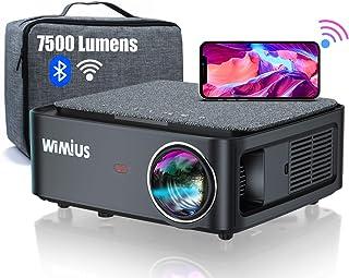 Videoproiettore WiFi Bluetooth,7500 Lumen Proiettore Full HD 1080P Supporto 4K 4D Correzione Trapezoidale Zoom Funzione Pr...