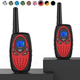 Best Topsung Walkie Talkies Long Range, M880 FRS Two Way Radio for Adults with Mic LCD Screen/Durable Wakie-Talkies with Noise Cancelling for Men Women Outdoor Adventures Cruise Ship (Red 2 in 1) Review