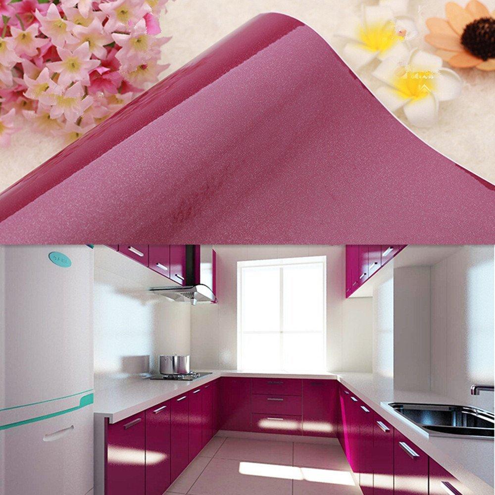 Yazi - Papel pintado de vinilo autoadhesivo extraíble para muebles de cocina, color morado, 61 x 500 cm: Amazon.es: Hogar