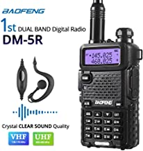 Baofeng DM-5R Dual Band DMR Digital Radio Walkie Talkie, VHF / UHF 136-174 / 400-480MHz Two-Way Radio Transceiver, Ultra-long Working & Standby Time, with 21cm Antenna, Black