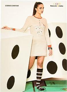 54444f6ded Buccia di Mela Camicia da Notte Donna Invernale Art.DI9724Z Caldo Cotone  Interlock