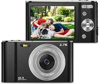 ZORNIK 2.7K Cámaras Digitales, Cámara Compacta 2.88 Pulgadas LCD Recargable HD 44 Megapíxeles Zoom Digital 16x, Estudiante...