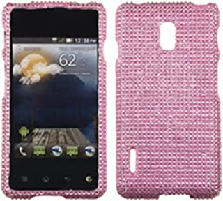 Aimo LGUS780HPCDMS004NP Dazzling Diamante Bling Case for LG Optimus F7 - Retail Packaging - Pink