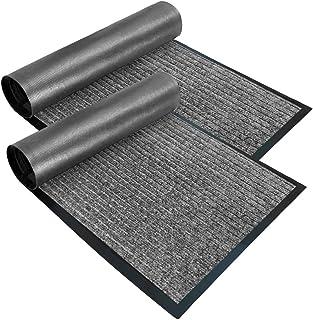 Gorilla Grip Low Profile Rubber Door Mat 2 Pack, Heavy Duty, Durable Doormat, Indoor and Outdoor, Waterproof, Easy Clean S...