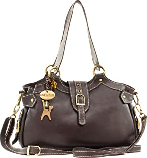 Women's Leather Top Handle/Shoulder Bag/Cross Body - Detachable Adjustable Strap - NICOLE