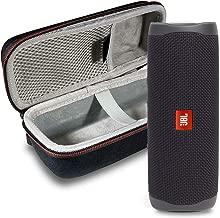 JBL FLIP 5 Portable Speaker IPX 7 Waterproof On-The-Go Bundle with Hard Shell Case (Matte Black)