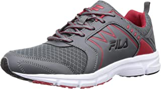Fila Men's Transition Gry/CHN Rd/Blk Running Shoes-9 UK (43 EU) (10 US) (11008053)