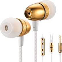 Betron ELR50 Earphones Headphones, Balanced Bass Driven Sound, Noise Isolating, Stereo for iPhone, iPod, iPad, Samsung and Mp3 Players (with Mic and Remote) (Gold)