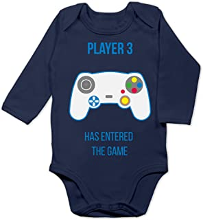 Shirtracer Up to Date Baby - Player 3 Has Entered The Game Controller weiß - Baby Body Langarm