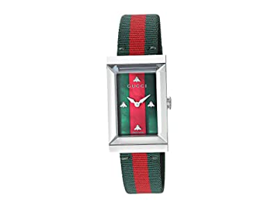 Gucci G-Frame YA147404 (Green/Red) Watches