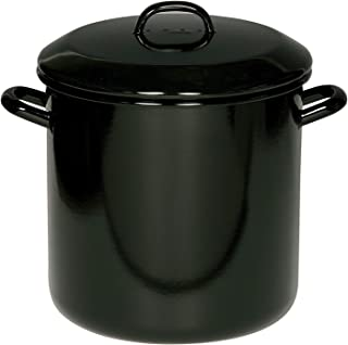 Riess Marmite avec couvercle - Pour oignons, pommes de terre - Diamètre : 30 cm - 20 l - Noir