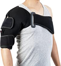 Hot/Cold & Compression Shoulder Support - Perfect for Shoulder Inflammation and Rotator Cuff Injuries (Left/Right Shoulder)