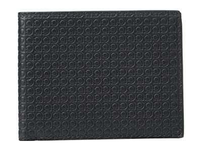 Salvatore Ferragamo Mini Gancio Bifold Wallet (Black) Wallet Handbags