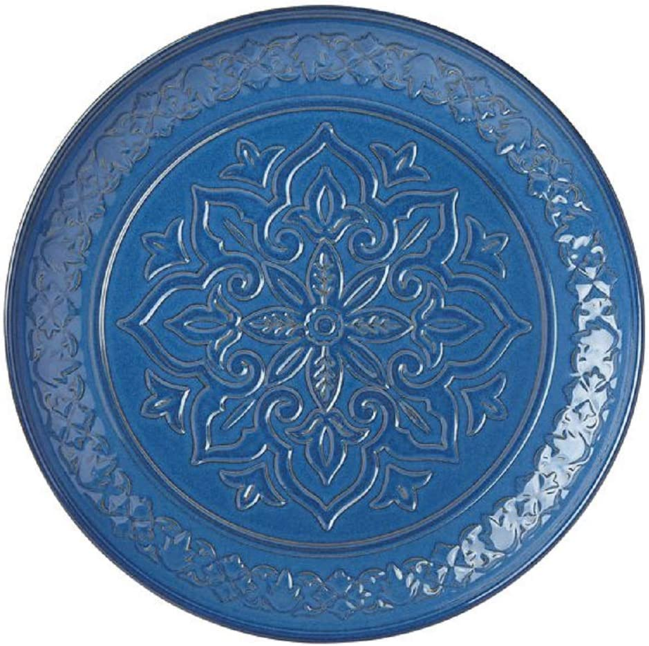 Lenox Special sale item Global Tapestry Round Serving LB Columbus Mall 5.50 Platter Blue