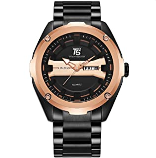 T5Wrist Watch for Men, Stainless Steel, H3570G-E