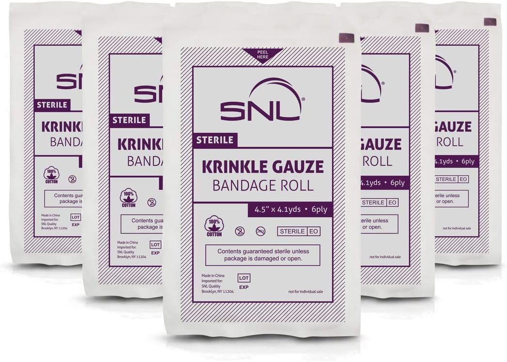 SNL Sterile Krinkle Kerlix Type 4 1 Free x Cheap super special price Latex 2