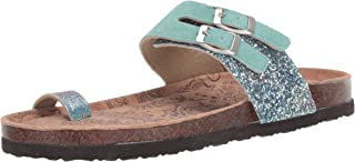 Muk Luks Women's Daisy Terra Turf-Mint Sandal