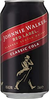Johnnie Walker Red Label and Classic Cola Can 375ml (Pack of 24)