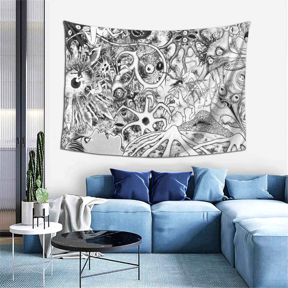 Junji Wall Tapestry Junji Ito Uzumaki Collage Wall Tapestry