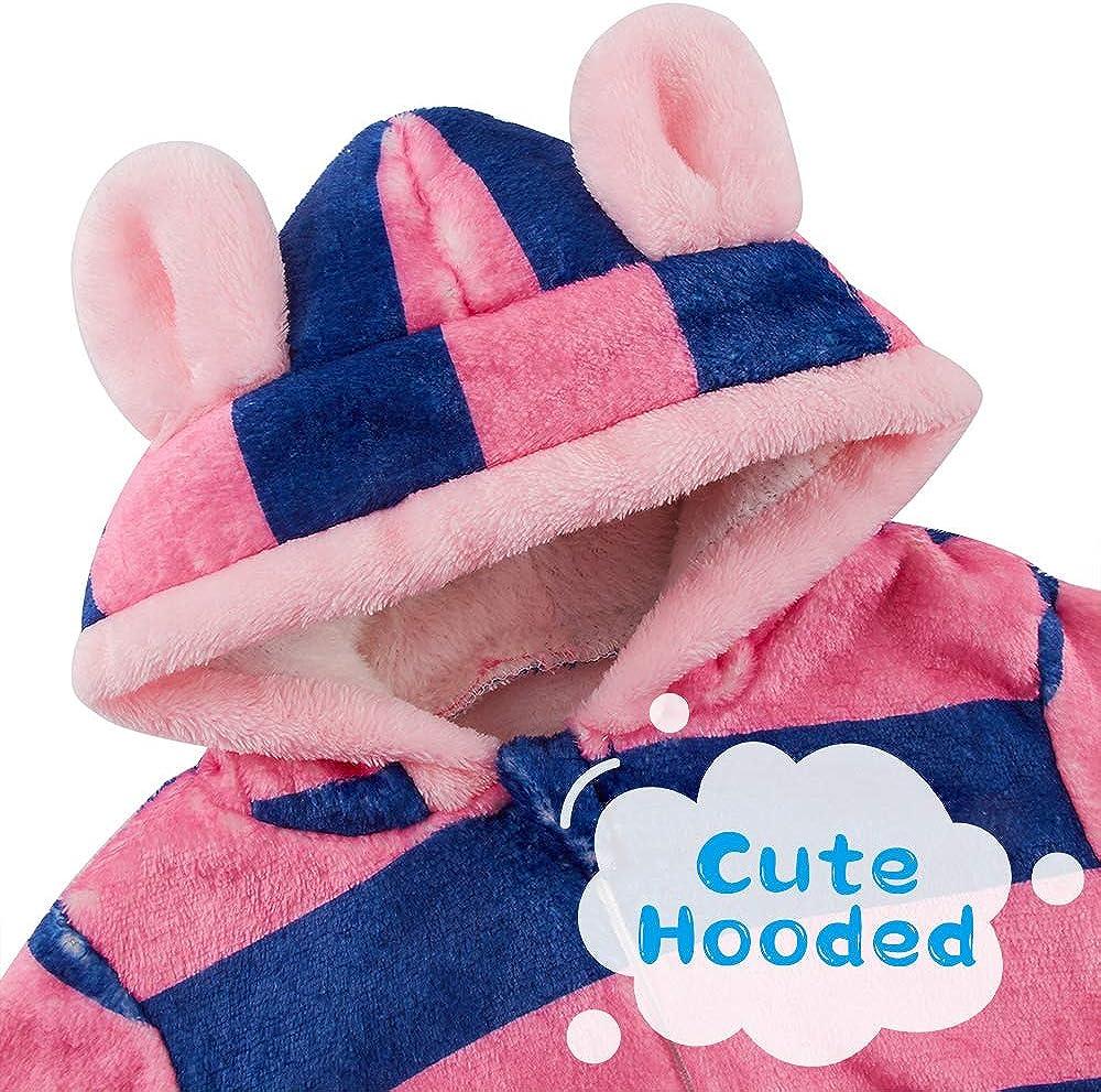 Lovekider Fleece Baby Bunting Bodysuit Newborn Footies Jumpsuit Romper 0-12 Months