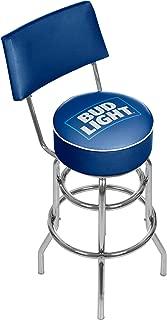 Bud Light Padded Swivel Bar Stool with Back