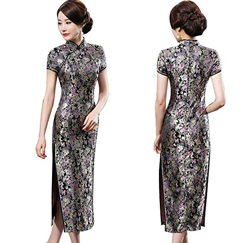 ff626ef11 ZooBoo Chinese Cheongsam Qipao Dress - Oriental Traditional Wedding Outfit Clothing  Costume for Girls Women -