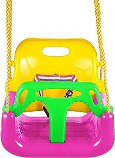 para Casa Jard/ín Interiores o Exteriores Carga M/áx ZSLGOGO 3 En 1 Columpios Infantiles para Beb/és Ni/ños con Silla Convertible en Asiento de Seguridad 150 KG
