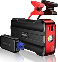 joyroom Jump Starter Battery Pack, [8 Protect TECH] 800A & 12V &15000mAh Car Portable Emergency Power Pack (Up to 7L Gasoline and 5.5L Diesel Engines) with Smart Jumper Cables QC 3.0 USB Output