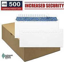 Envelopes Self Seal - Security Envelopes #10 - Standard Size Business Envelopes 4-1/8 x 9-1/2 Inch, 500 Count, No Window, Blank White Envelopes, Quality 24 lb Paper