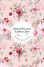 Internet Password & Address Book: All-In-One Organizer, Passwords and addresses A-Z Alphabetical Tabs, Included Anniversar...