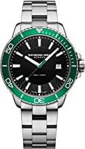 Raymond Weil Men's Tango 300 Diving Watch with Stainless-Steel Strap, Silver, 0.2 (Model: 8260-ST7-20001)