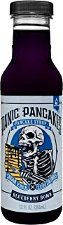 Panic Pancakes Blueberry Bomb Syrup by Sinister Labs - Sugar free, zero calorie syrup with great berry flavor for healthy pancakes, waffles or dessert - gluten free - 12 oz bottles (6-pack)