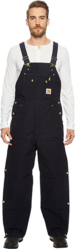 Quilt Lined Zip-to-Thigh Bib Overalls