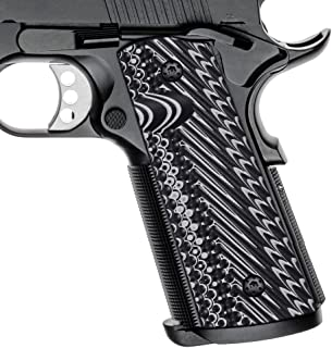 Cool Hand 1911 G10 Grips, Screws Included, Full Size (Government/Commander), Magwell Cut, Ambi Safety Cut, OPS Texture