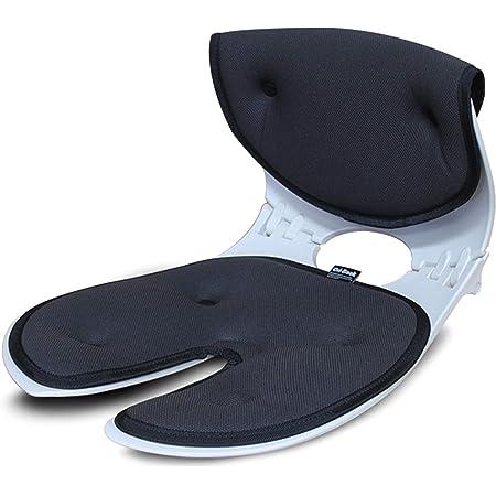 【オリバック】 テレワーク推奨 骨盤サポートチェア 姿勢補正 正規品(メーカー純正) 1年保証 (ダークグレー)