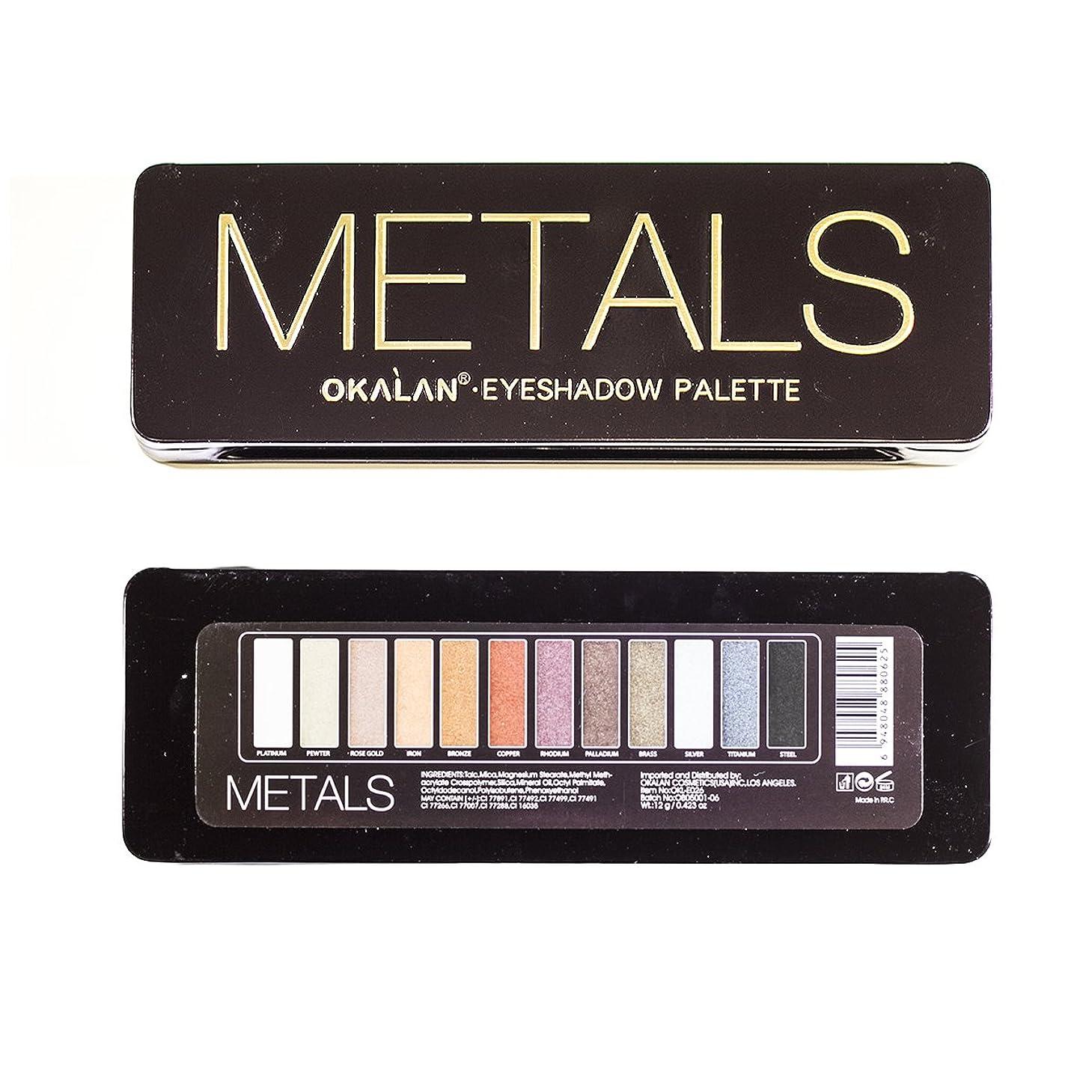 お誕生日儀式基本的なOKALAN Natural Color Metal Eyeshadow Display Set, 6 Pieces (並行輸入品)