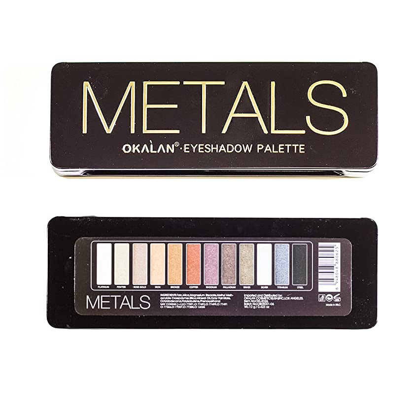 旧正月余計な増強するOKALAN Natural Color Metal Eyeshadow Display Set, 6 Pieces (並行輸入品)