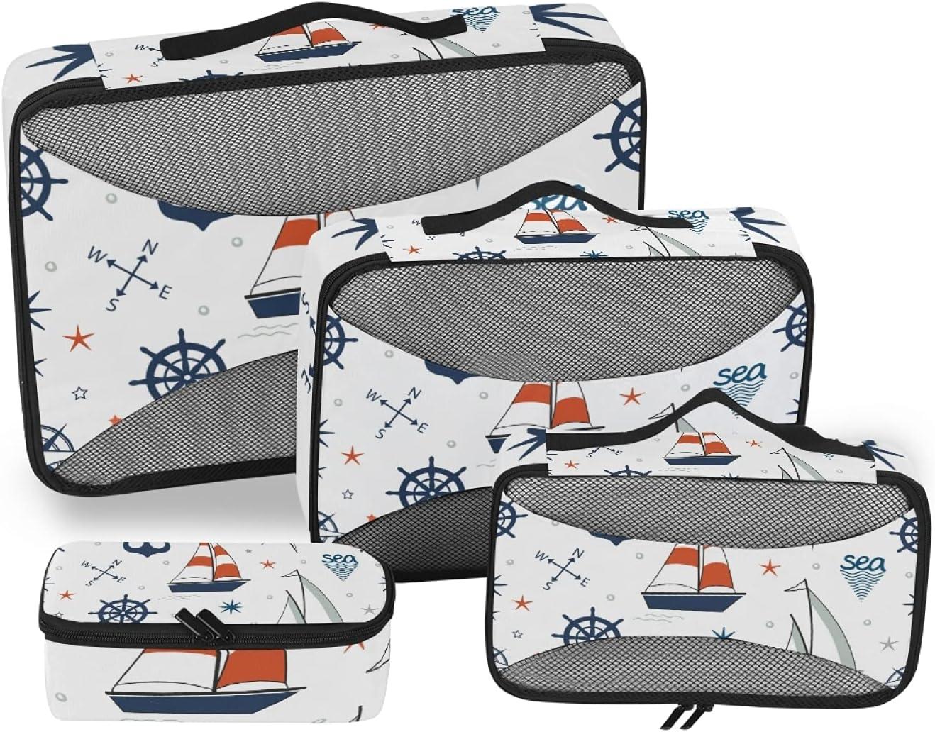 Sailboat Anchor Nautical Packing Indefinitely Storage 4-Pcs sold out Bag Travel Organi