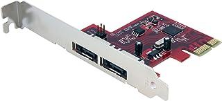 بطاقة وحدة تحكم ساتا سريعة PCI Express SATA 6 جيجابايت في الثانية من StarTech.com 2x eSATA III PEXESAT32