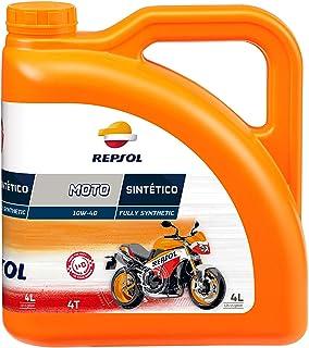 Repsol RRP163N54 Moto Sintetico 4T 10W-40 Aceite de Motor, Multicolor, 4 L