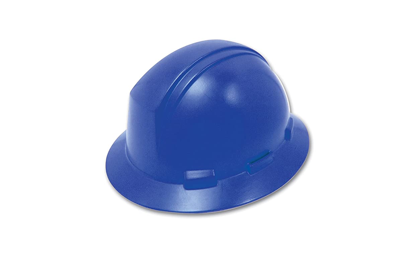 Dynamic Safety HP641/17 Kilimanjaro Hard Hat with 4-Point Nylon Suspension and Pin Lock Adjustment, ANSI Type I, One Size, Royal Blue