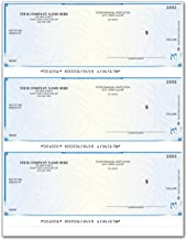 CheckSimple Laser Business Checks, High Security, 3/Page - Compatible with QuickBooks & Quicken (100 Qty) - Custom