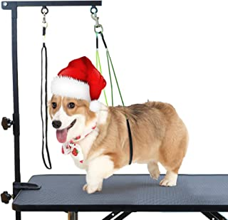 CHAOLUN Foldable Pet Dog Grooming Arm with Clamp, Dog Grooming Loop Noose & Two No Sit Haunch Holder for Medium & Small Pe...